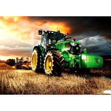 Full Square/Round Drill 5D DIY Diamond Painting Tractor farm Embroidery Cross Stitch  Home Decor Gift homfun 5d diy diamond painting full square round drill tractor scenery embroidery cross stitch gift home decor gift a09181