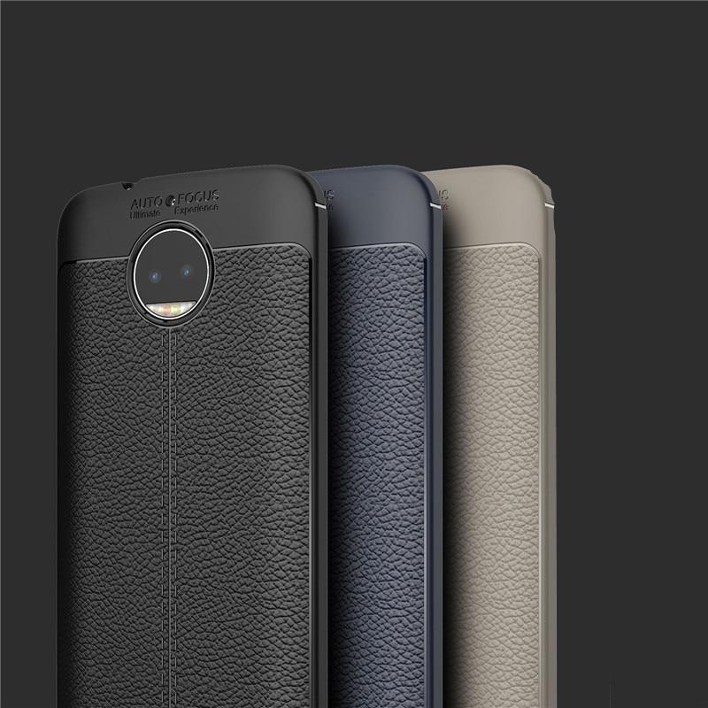 Hot SALE Relief Case Leather Litchi pattern TPU Soft Cases For Motorola Moto G5 G5S PLUS E4 plus moto c plus Back cover