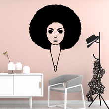 Cartoon Africa woman Decorative Sticker Waterproof Home Decor For Living Room Kids Mural Custom
