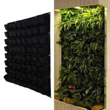 Multi-pocket Hanging Vertical Garden Planter Indoor Outdoor Balcony Wall Herb Grow Bag Pots Supplies