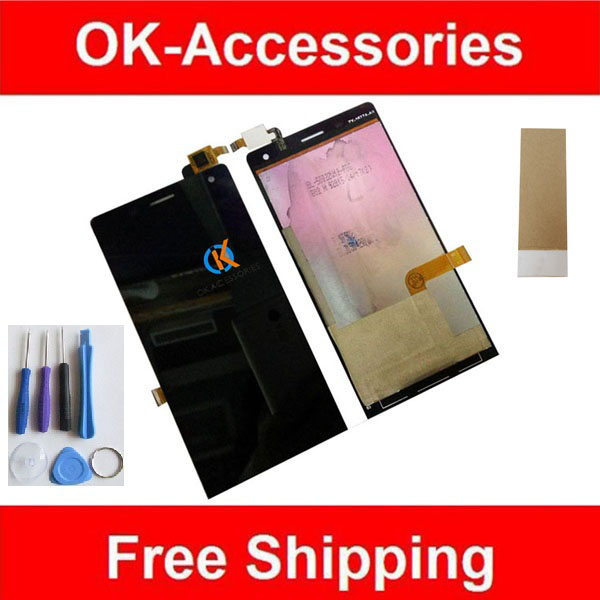 Colore nero Per Highscreen Sull'orlo Display LCD + Touch Screen Digtizer Assemblea Con Strumenti Adesivo nastro 1 Pz/lotto.
