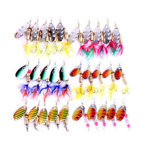 Hot Sale 100pcs Set Fishing Lures Minnow Popper Crank Bait Metal Sequins Three Hooks Jig Wobblers