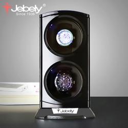 Jebely Новое поступление черные двойные часы моталки для автоматических часов автоматические двойные часы коробка ювелирные часы дисплей кор...