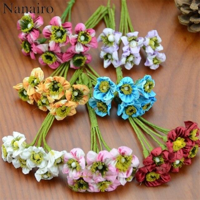 6pcs/lot 2cm Mini Paper Rose Flowers Bouquet Wedding Decoration ...