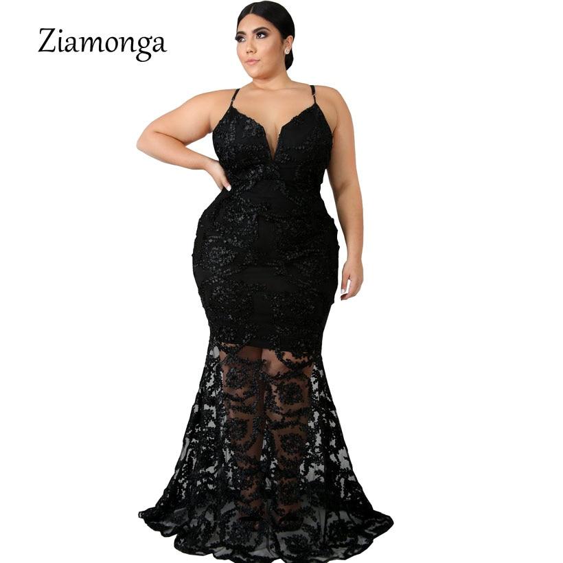 Ziamonga Plus Size Lace Dress Women Big Size Dress Fashion