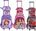 Crianças mochila com Rodas crianças Sacos Para A Escola Do Trole Rolando bagagem Do Trole bolsa de Viagem Mochila saco mochila Para O menino menina