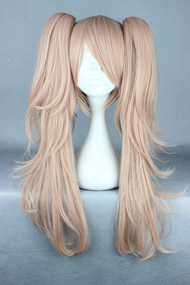 MCOSER Quality Girls Long Curly Pink Manga Super Danganronpa 2 Cosplay  Junko Enoshima Wig Ponytails on Aliexpress.com  a136f2fec564
