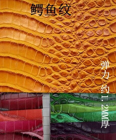 Faux BRICOLAGE pu cuir synthétique tissu crocodile imprimé pu deri, gants en cuir synthétique poisson textile, 1210026