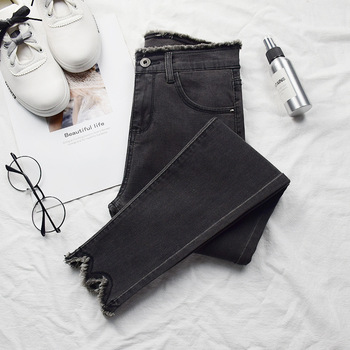 New Fashion Skinny Denim Pencil Jeans Woman Elastic High Waist Trousers Black Blue Stretch Plus Size Washed Jeans Female brand new arrival high quality female jeans casual high waist women jeans skinny denim pants black blue trousers plus size s 6xl