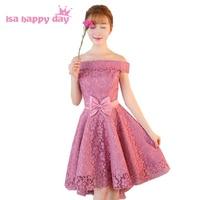 Bateau cou femmes tenue de soirée princesse filles blush dentelle robe femme xl partie robe haut bas courtes robes et robes de bal H4139