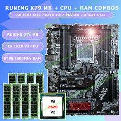 Nowy!!! do biegania Super ATX X79 LGA2011 płyta główna 8 DDR3 gniazda DIMM max 8*16G pamięci Xeon E5 2620 V2 procesor 64G (8*8G) 1600 MHz DDR3 RECC w Płyty główne od Komputer i biuro na