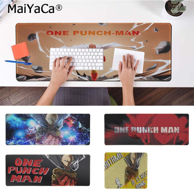 MaiYaCa Beautiful Anime ONE PUNCH-MAN Silicone large/small Pad to Mouse Game Rubber PC Computer Gaming mousepad