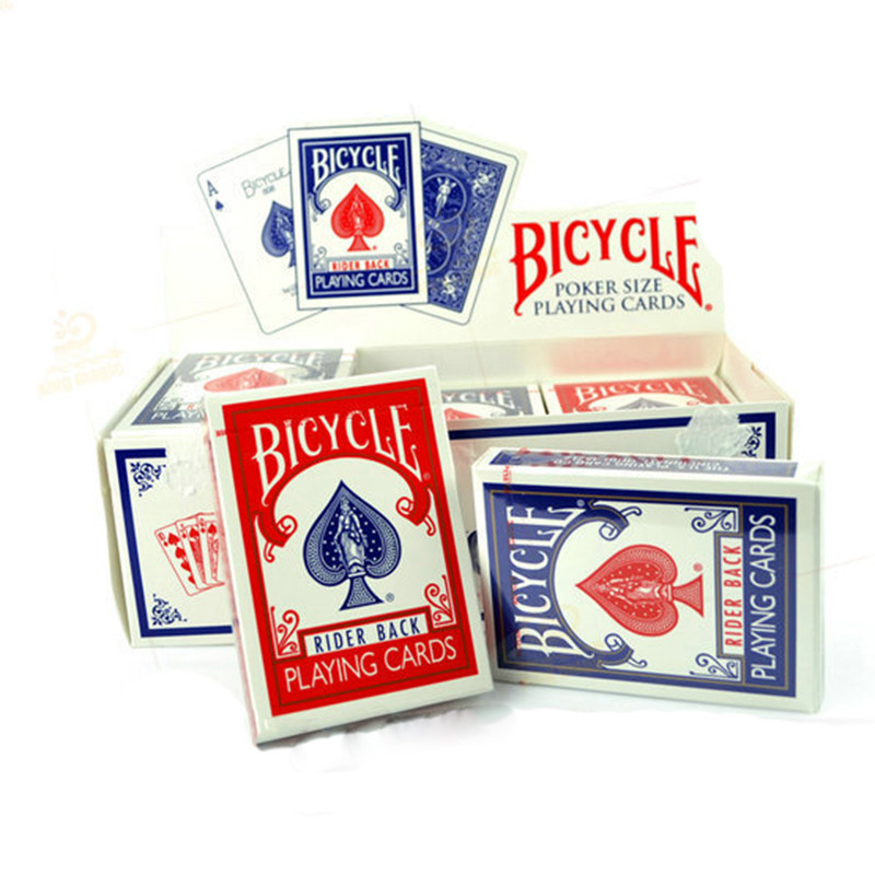 6 blue Paper 12 pc Bicycle Playing Cards Standard 6 red