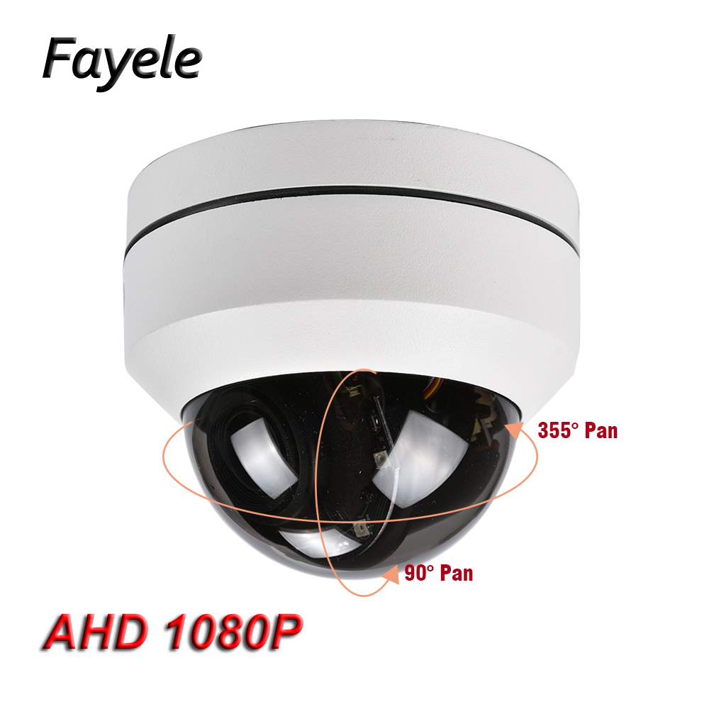 CCTV Security 2.5 MINI PTZ Dome Camera AHD 1080P CVI TVI CVBS 4IN1 SONY IMX323 2.8~12mm Motorized Lens 4X ZOOM Pan Tilt IR 40M cctv indoor 1080p 2 5 mini dome ptz camera sony imx323 ahd tvi cvi cvbs 4in1 2mp pan tilt 4x zoom day night ir 40m osd menu