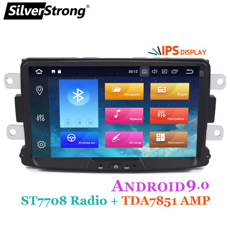 SilverStrong 8Inch Android9 0 QuadCore Car Radio GPS 1Din For Renault LOGAN II Duster DACIA DOKKER