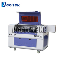 CE supported co2 laser machine for sale AKJ6090 wood laser cutter