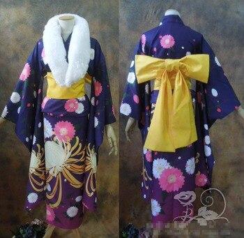 Toaru Kagaku no Railgun Shirai Kuroko Uniforms Cosplay Kimono Free Shipping