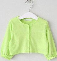 2 3 4 6 8 10 12 14 15Y Fashion Thin Solid Girls Coat Half Sleeve