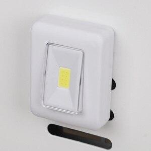 Image 3 - Interrupteur COB mur LED lumière veilleuse magnétique AAA à piles Ultra lumineux Luminaria avec bande magique pour placard de Garage
