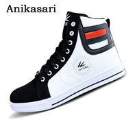 Mens Trainers High Tops Shoes For Men Casual Shoes Leather Boots Lace Up USA Street Style