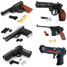 Upgrade Toy Gun Pistol Revolver Model Desert Eagle Cs Toys Pack Weapon Legoing Building Blocks Kids Children Boys Bricks Gift все цены