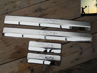 Free Shipping FIT FOR 2009 2010 2011 2012 2013 2014 Fiesta Stainless Steel Door Scuff Sill