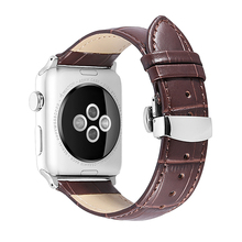 цена на iStrap For Apple Watch Band Leather Strap for iWatch Accssories for Series 1/2/3/4 Watch Band Strap 38mm 40mm 42mm 44mm