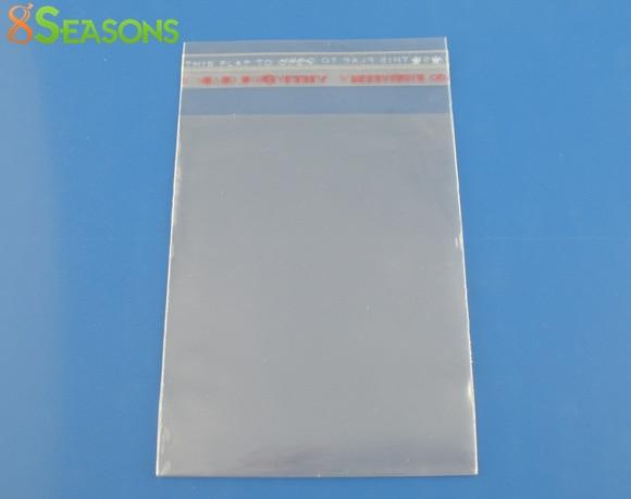 8SEASONS 200PCs Clear Self Adhesive Seal Plastic Bags 7x10cm  (B03360)