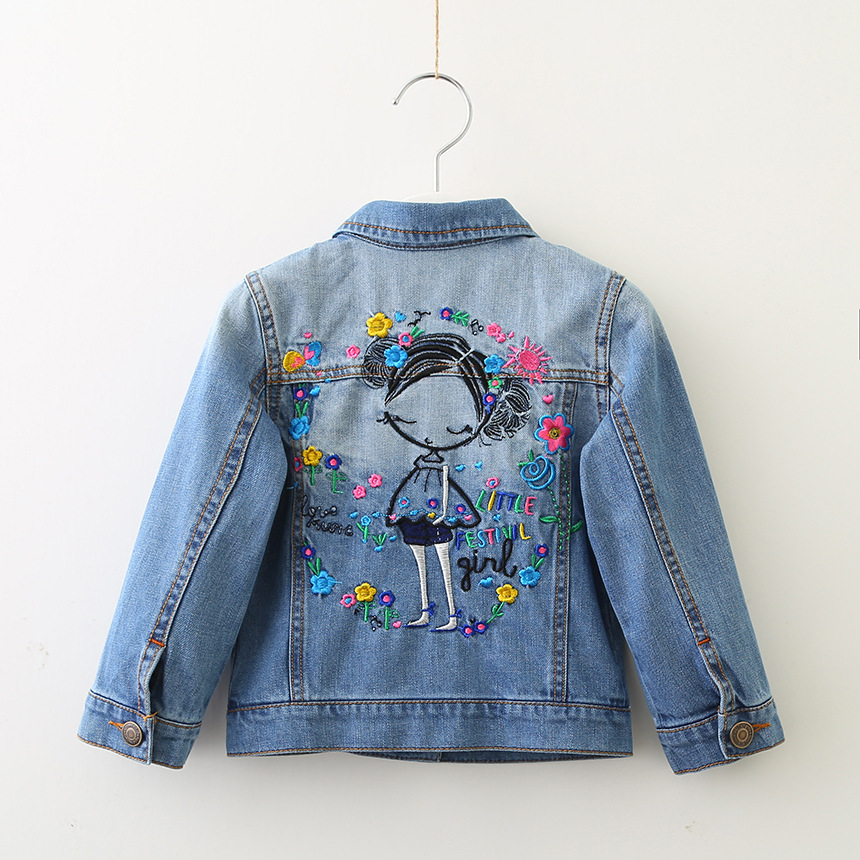 8db328a7b AiLe Rabbit 2018 New Arrival Girls Denim Jacket Embroidered Girl ...