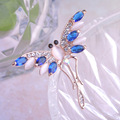 Luxury Crystal Jewelry Dragonfly Brooches Anti Gold Plated Cubic Zirconia Rhinestone broches Costume Brooch Pin hijab pins Gift