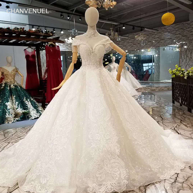 LS44006 Sweetheart Wedding Gown 2018 With Beading Necklace