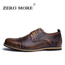 ZERO MORE New Fashion Men Shoes Cow Split Leather Men Casual Shoes Classic Basic 3 Colors Shoes for Men size 38-47 #ZM107