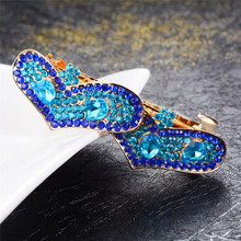 Top Rhinestone Crystal Double Hearts Barrettes Hair Jewelry Fashion Clips Wedding Accessories Hairpin Valentine Gifts