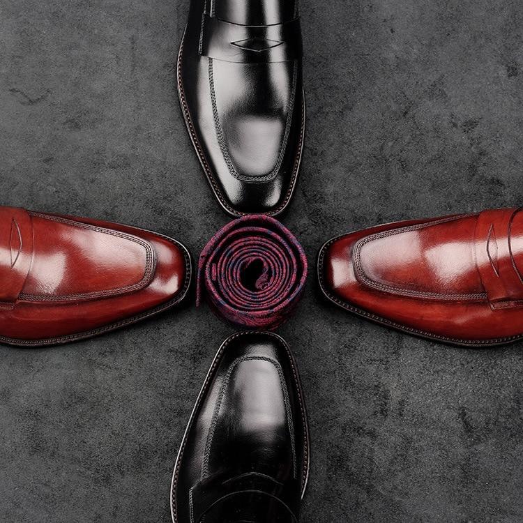 Formal Negócios Wear vermelho Flats Couro De Mão Nova À 8 Moda Homens Luxo Sapatos Projeto Oxford Genuíno Dos Vestido Preto Feitos Gentleman's 2018 wCwaIq