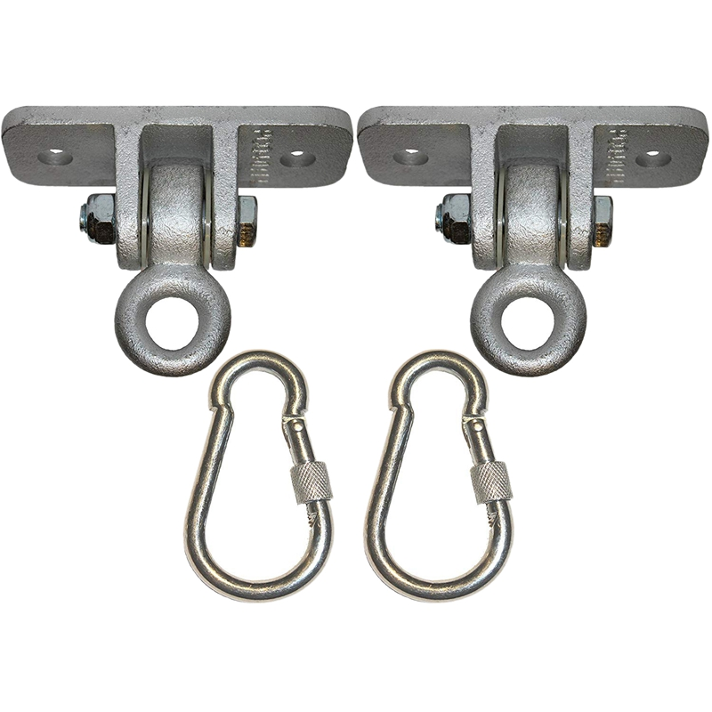 Locking Snap Hooks Heavy Duty Swing Hook Hangers Seat Trapeze Sets | Static Tension 5000 Lb Capacity For All Swing Set Products