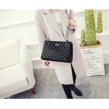 Fashion Woman Big Embroidery Bags Ladies Luxury Handbag Women Plaid Chain Shoulder Bag Large Quilted Bolsas Femininas