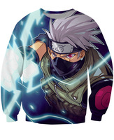 2017 Nóng bán Phim Hoạt Hình Sáng Tạo 3D In áo nỉ Naruto Hatake Kakashi Men Áo Áo Thun Thời Trang Mặc Cộng Với S-5XL R2526