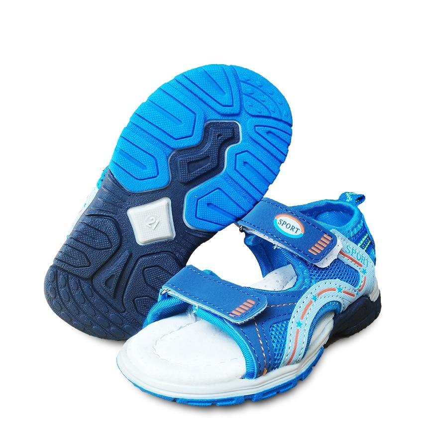 Summer Children beach Sandals Orthopedic Boys Shoes Fashion Outdoor Kids shoes , inner 13.7cm-17.2cm