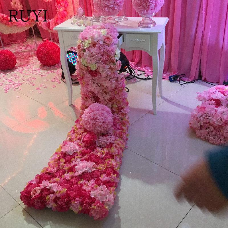 Ev ve Bahçe'ten Yapay ve Kurutulmuş Çiçekler'de Yüksek kaliteli Yapay Çiçek Duvar Sahne Zemin Dekoratif Sahte Çiçekler Masa Centerpiece/Düğün/Şenlikli Malzemeleri Dekor'da  Grup 1