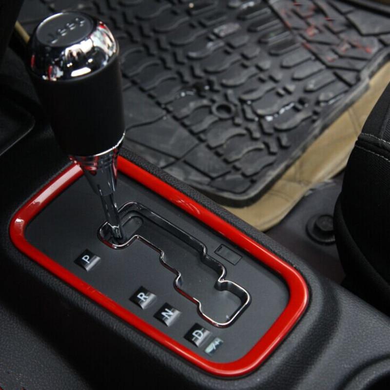 For Jeep Wrangler Rubicon Jk 2008 2015 Abs Gear Shift Cover Trim Interior Accessories Cover Big