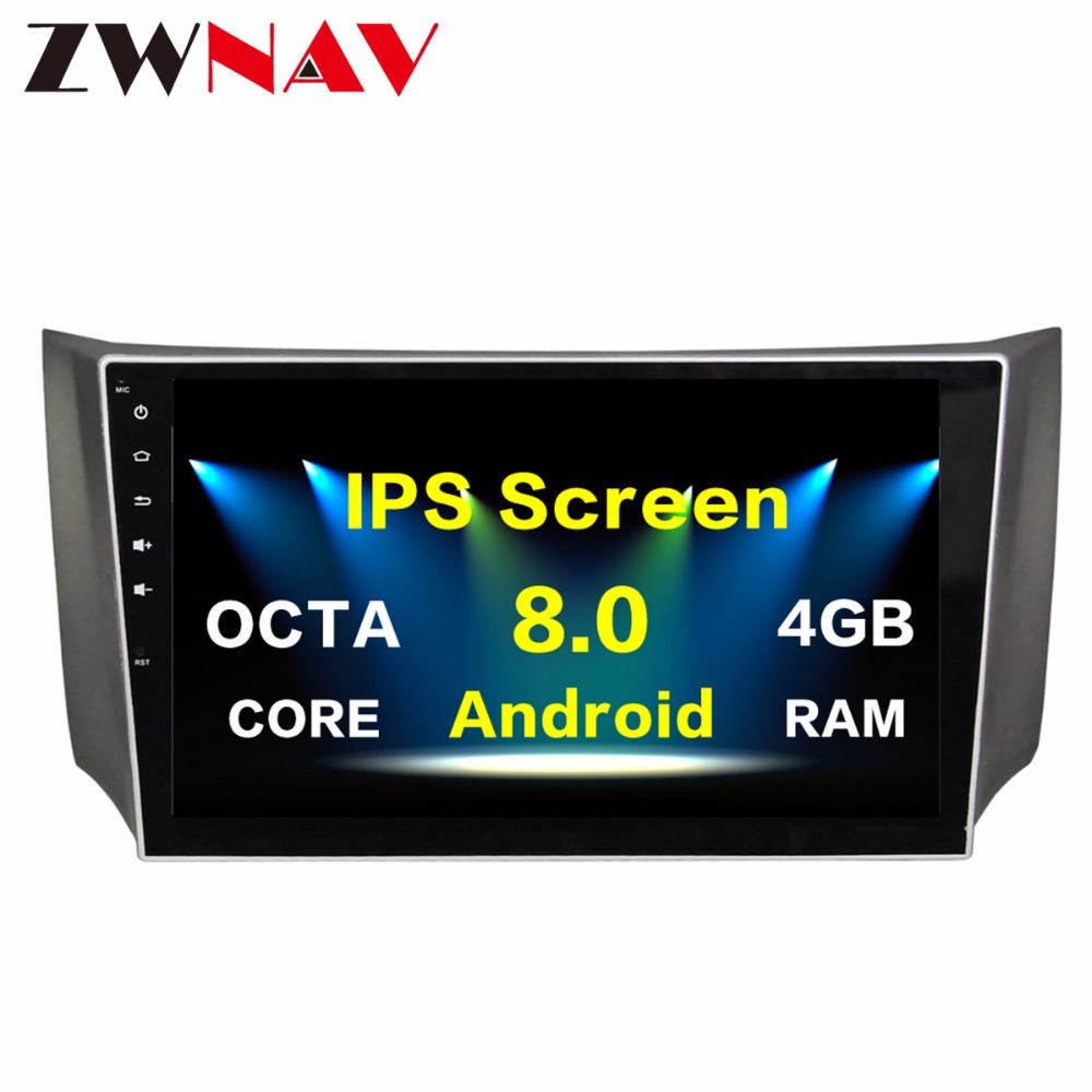 4 32G Android 8 0 Car Multimedia Player head unit for Nissan Sylphy 2012 2013 2014