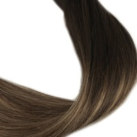 Full Shine Pre Bonded U Tip Hair Extensions Color 1B fading to color 6 and 27 Remy Human hair