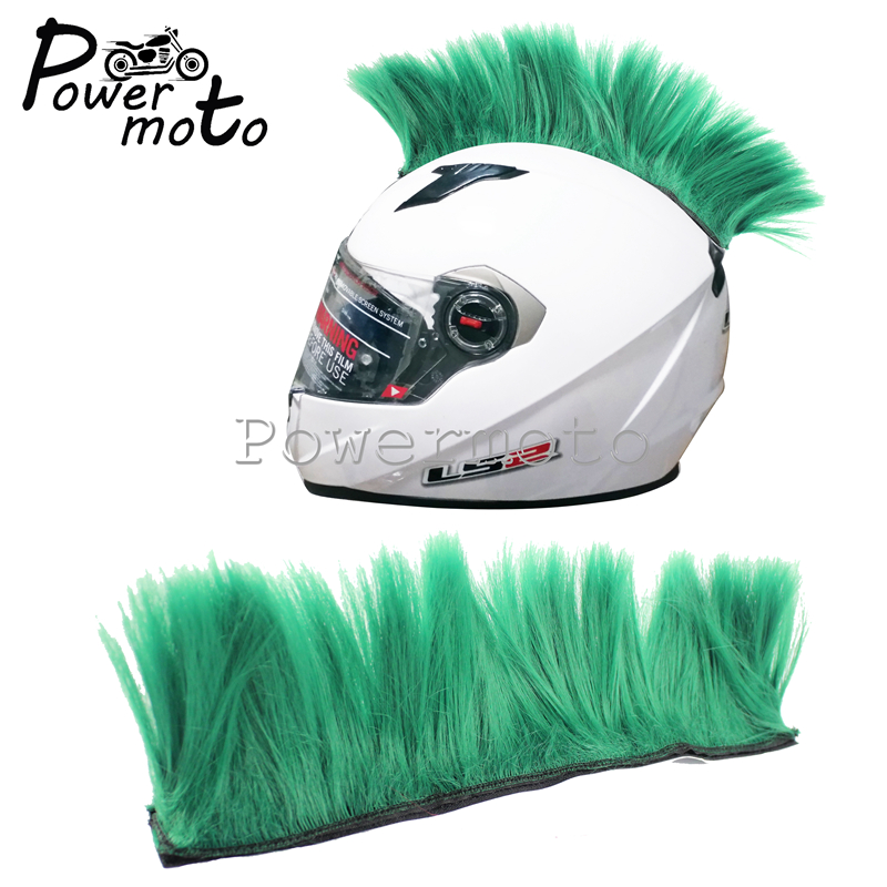 Motorcycle Green Mohawk Helmet Hair Punk Style Motocross Racing Bike Skateboard Outdoor Atv Street Off Road Feather Decoration Helmets Aliexpress