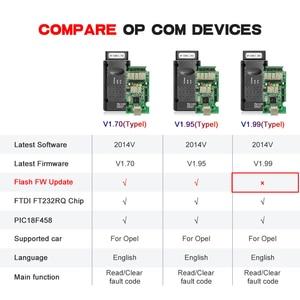 Image 2 - For Opel OPCOM 1.99 PIC18F458 FTDI FT232RQ OBD OBD2 Scanner Automotivo CAN BUS Car Diagnostic Auto Tool OP COM 2014V For Opel