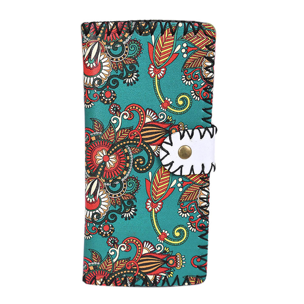 Fashion Women National Pattern Embroidered Wallet Long Purse Handbag Popular