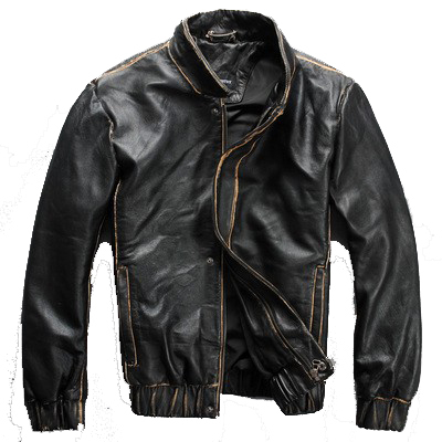 2015 Milan Cool Spring New Handmade Leather First Layer Of Leather Men's Leather Motorcycle Jacket