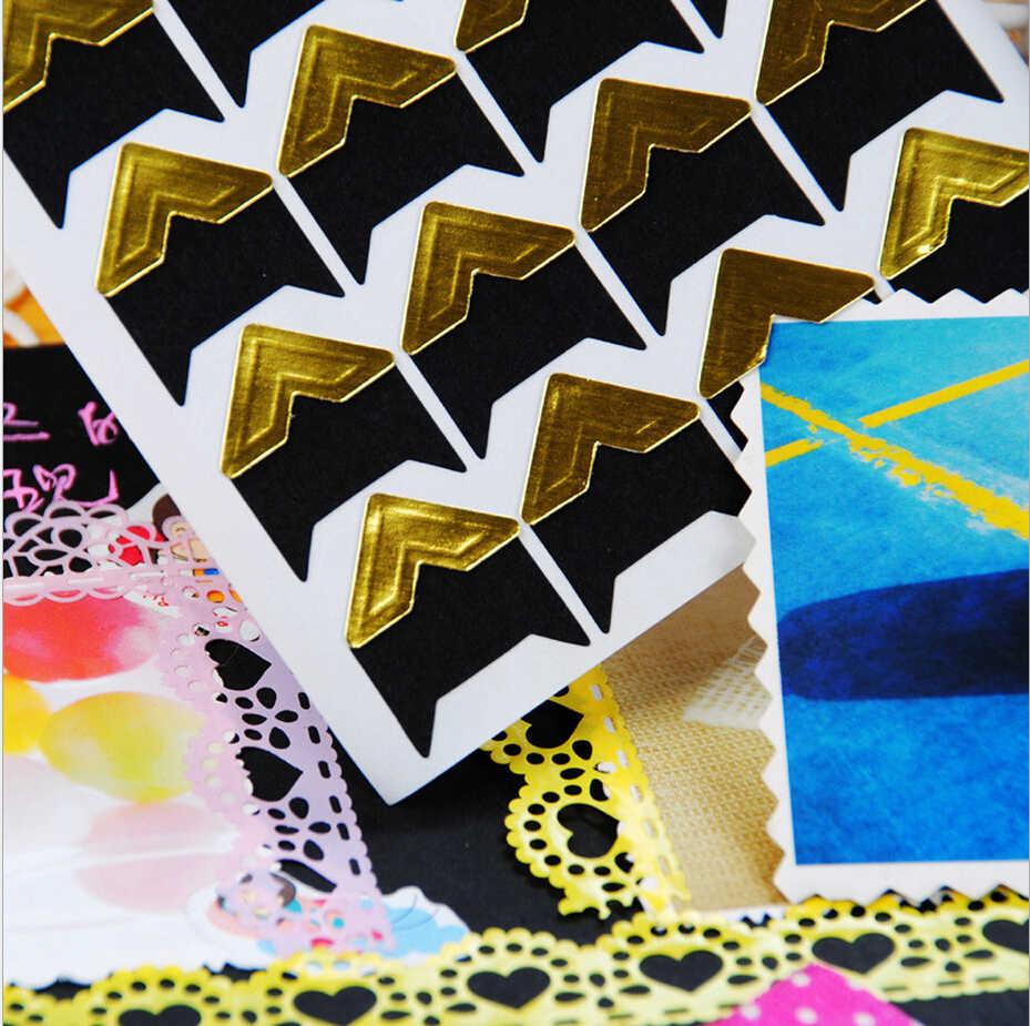 24 pcs/set Sheet DIY Vintage Corner kraft Paper Stickers for Photo Albums Frame Decoration Scrap booking