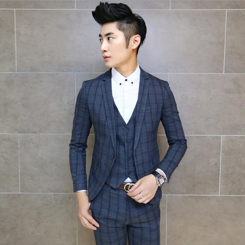 Aliexpress.com : Buy 2015 Plaid Custom Made Mens Suit 3 Piece Prom