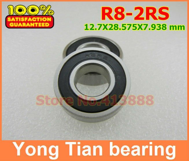 High Quality R8-2RS bearing 1/2 X 1-1/8 X 5/16 inch 12.7 x28.575 x 7.938mm miniature shielded ball bearing кошелёк cross rtc кожа наппа тиснёная цвет серый 18 8 x 10 2 x 1 5 см