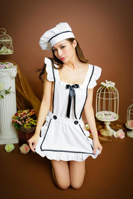 Kitchen Maid Moen Touchless Faucet Fantasy Sexy Navy Chef Role Play Open Back Mini Dress With Hat Erotic Cosplay Lingerie Set Costume Fancy